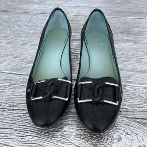 Cole Haan Black Slip On Loafers Size 9